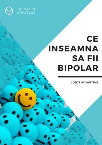 Terapia tulburării afective bipolare. Opţiuni de tratament.