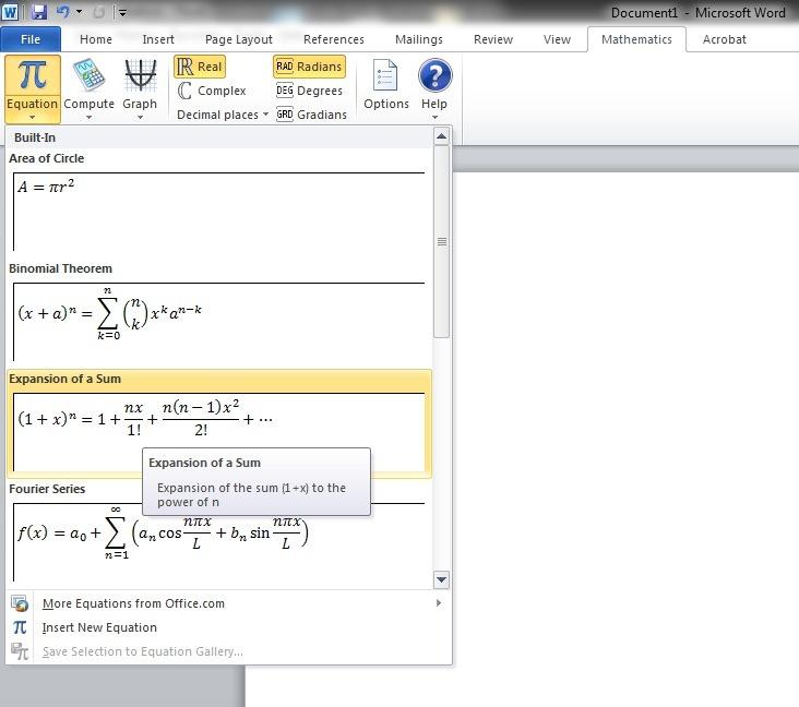 Rezolvarea ecuațiilor matematice cu asistentul matematic în OneNote - OneNote