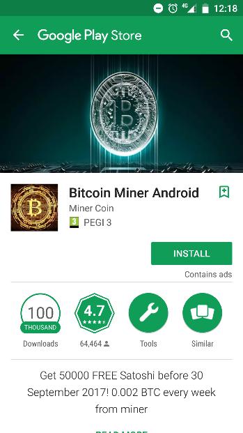 Descarca Bitcoin Miner - Earn Satoshi & Free BTC Mining Android: Productivitate